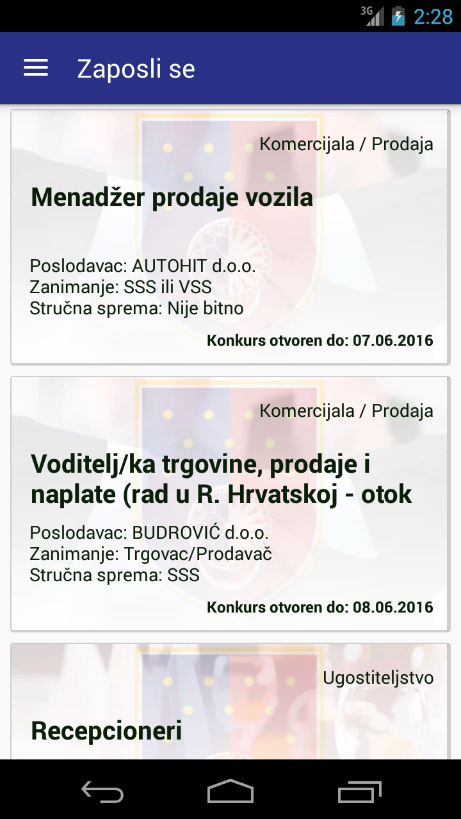 Zaposli se- screenshot
