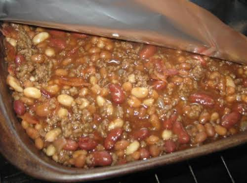 "Brian's Favorite Cowboy Beans ""My son Brian will eat these for a..."