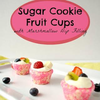 Sugar Cookie Fruit Dip Cups