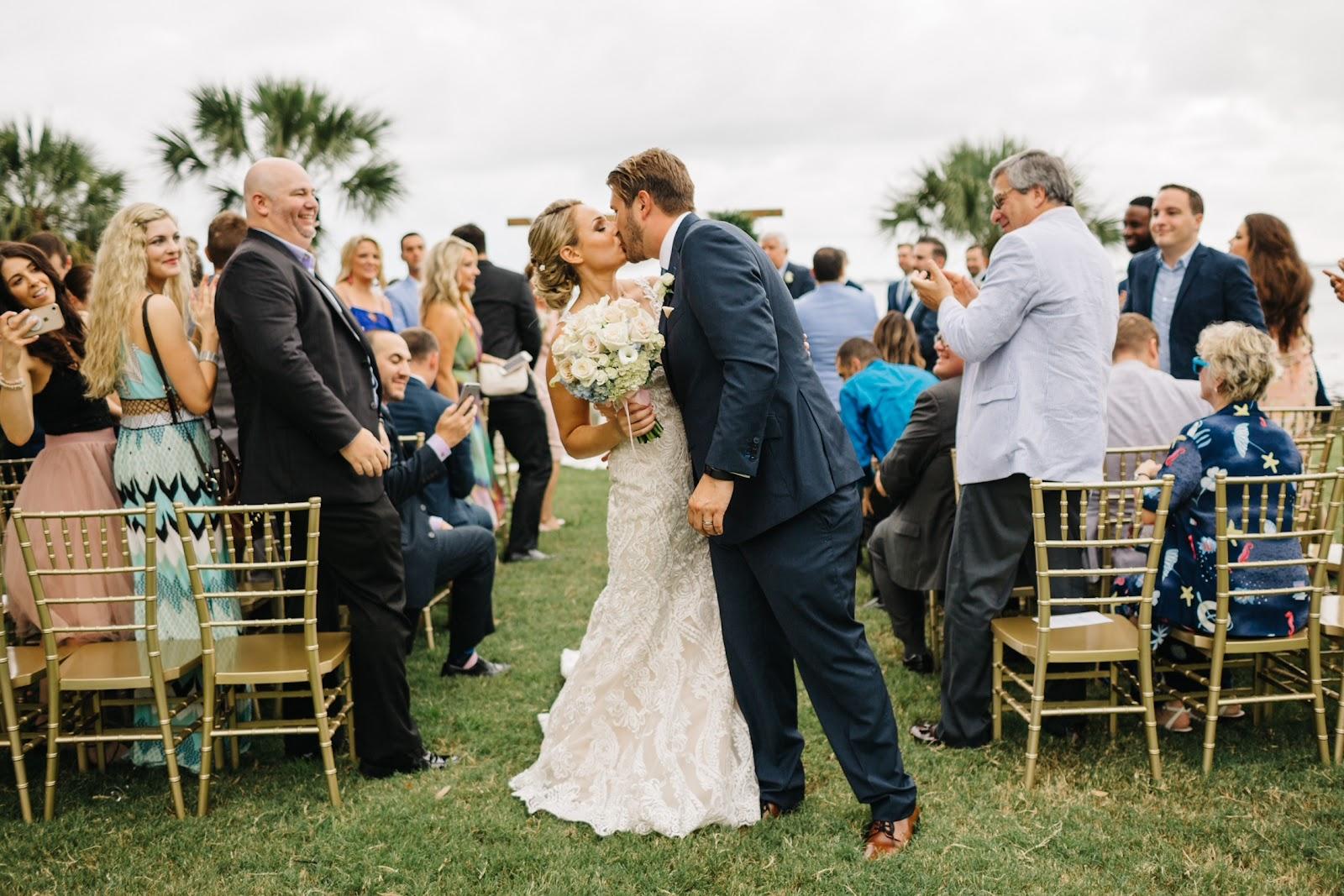 Sarah Colburn Matt Audibert Destination Wedding Planning Wedding Kiss