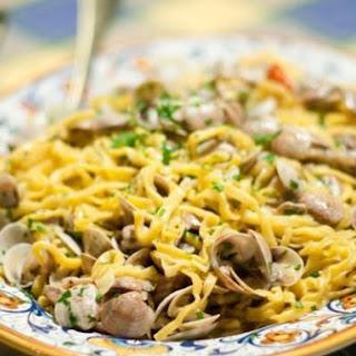 Tagliatelle Con Vongole - Pasta With Little Clams