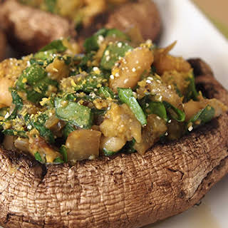 Vegan Stuffed Portobello Mushrooms.
