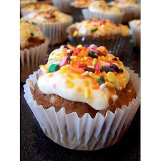 Pumpkin Cupcakes With Cheesecake Frosting.