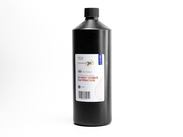 PhotoCentric 3D UV DLP High Tensile Resin - Grey (1kg)