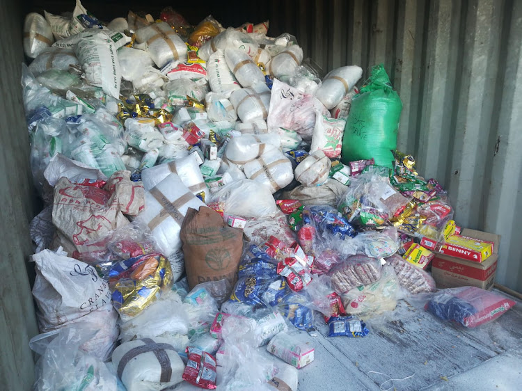 Food parcels with an estimated value of R1m were found at a house in Gauteng on Tuesday.