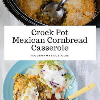 Crock Pot Mexican Cornbread Casserole.