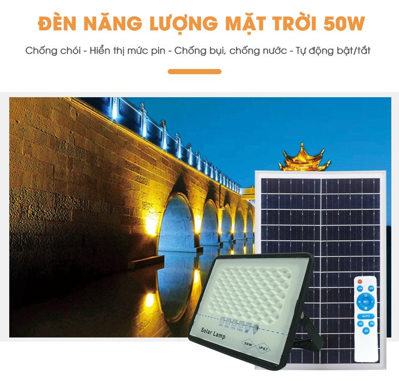 Mẫu đèn NLMT 50W Solar Light