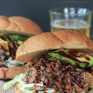 Honey Balsamic Pulled Pork Sandwiches with a Lime Cabbage Coleslaw