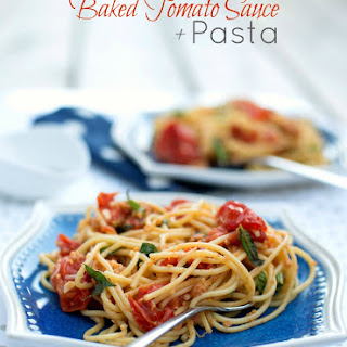Pasta with Baked Tomato Sauce - from The Wednesday Chef