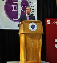 Photo: BBA President Paul Dacier spoke about the necessity of legal services in Boston.