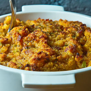 Cornbread Dressing with Sage and Black Pepper