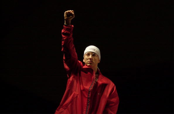 Eminem during The Detroit Hip Hop Summit at Cobo Arena in Detroit, Michigan, United States.