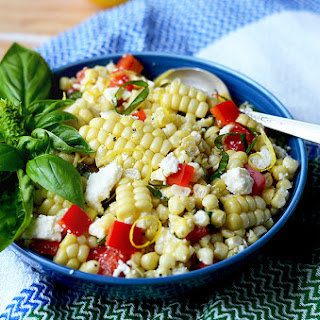 Corn Salad with Basil and Queso Fresco