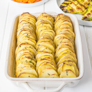 Crispy Layered Rosemary Potatoes