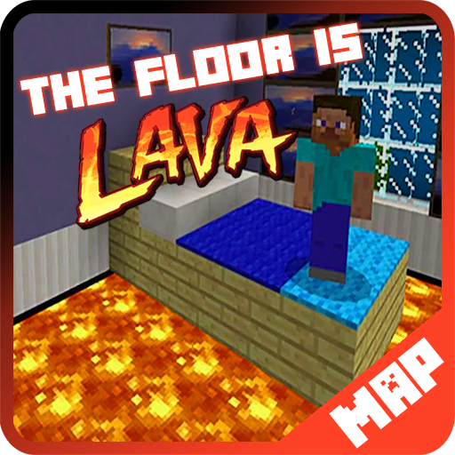 The Floor is Lava MAP for Minecraft