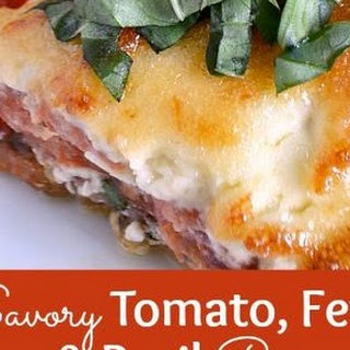 Savory Tomato, Feta, and Basil Pie