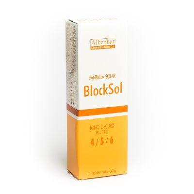 Protector Blocksol Pantalla Solar 4/5/6 Albephar 60Gr Tono Oscuro