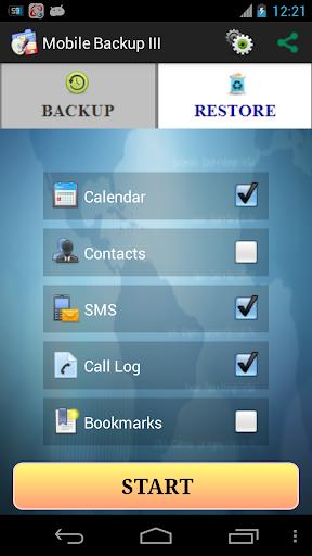 Mobile Backup II  screenshot 2
