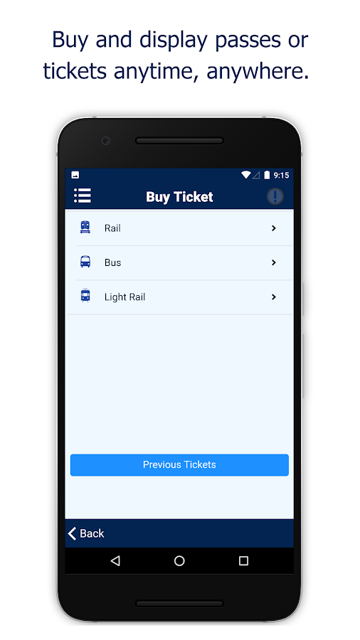 NJ TRANSIT Mobile App- screenshot