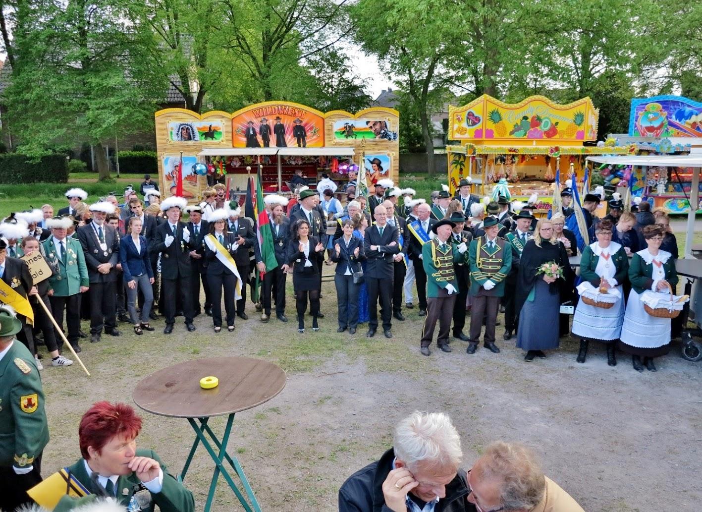 Het herdenking feest was op de kermis dagen van Kranenburg.