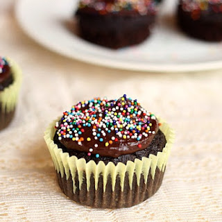Frosted Brownie Cupcakes.