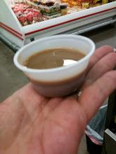 Photo: Small, but it will do! I'll treat it like a shot of espresso.
