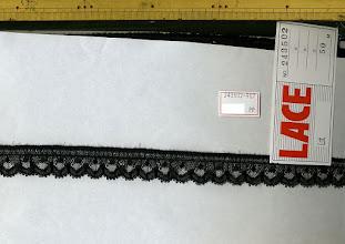 Photo: №243502-887ラッセルフリル黒(廃盤):巾25㎜