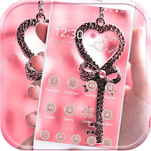 Pink Love Lock Theme Valentine