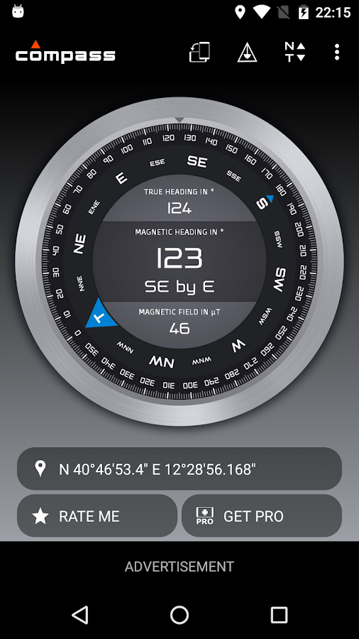 Screenshots of Compass for iPhone