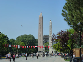 Photo: Theodosius Obelisk is originally an Egyptian piece of art erected in 1547 BC and originally 60m tall.