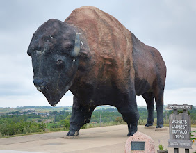 Photo: This 26-foot-tall, 60-ton concrete giant has been standing watch over Jamestown from the Frontier Village since 1959. Created by sculptor Elmer Petersen, he has proven one of the midwest's most popular roadside attractions for over 50 years.  In 2010, the World's Largest Buffalo received his name, Dakota Thunder.