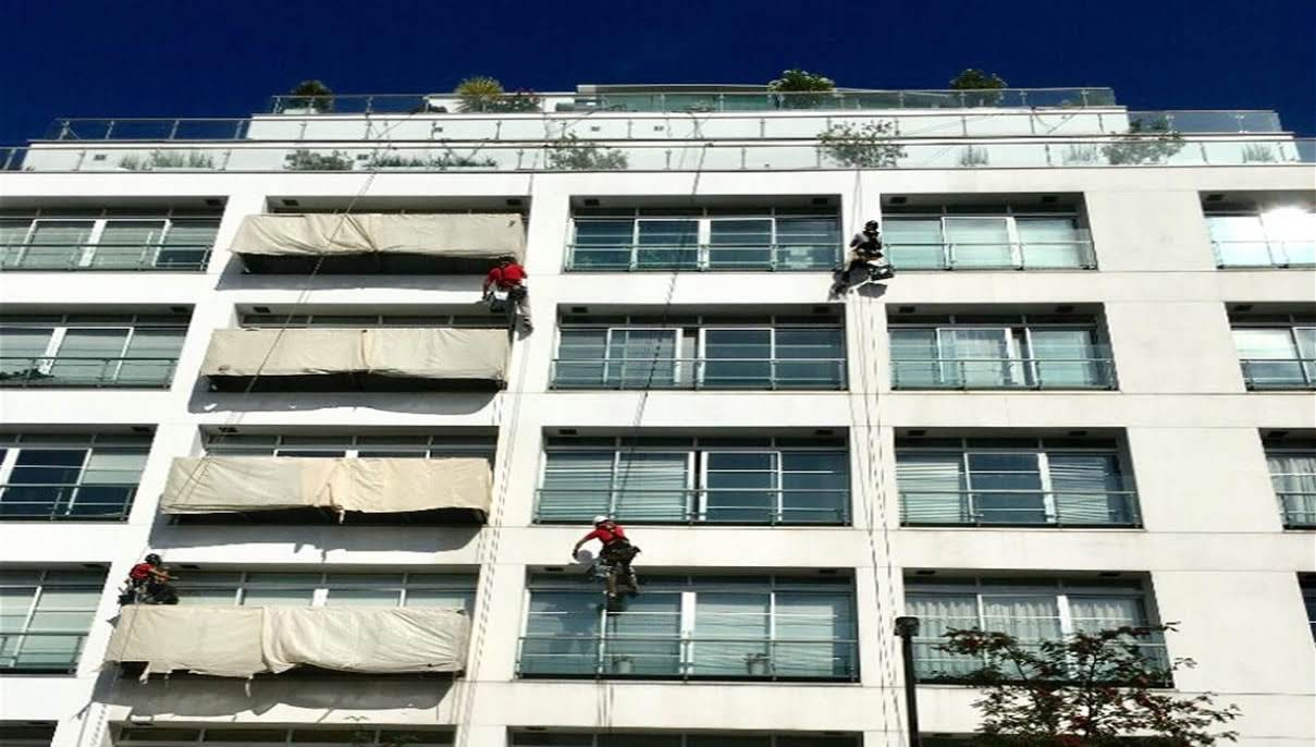 london abseil painters