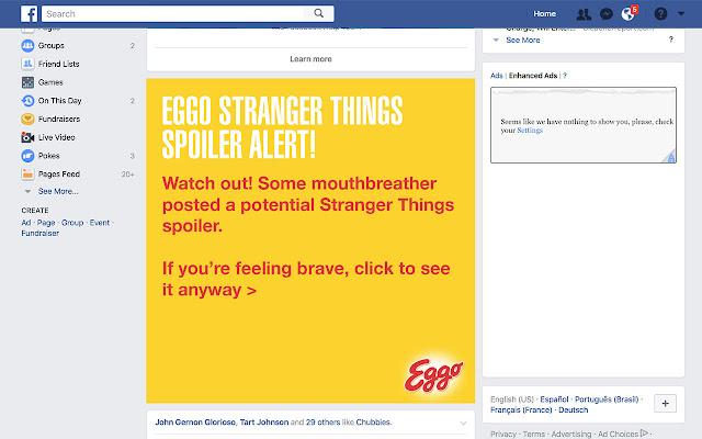Eggo Stranger Things Spoiler Blocker