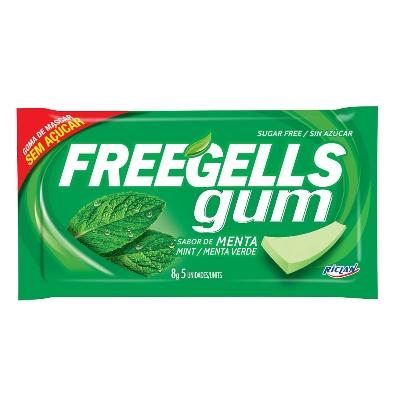 chicle freegells menta verde 8gr