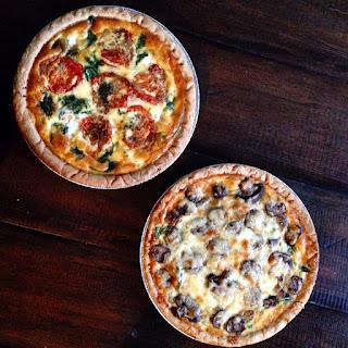 Asparagus, Mushroom, and Cheddar Quiche Recipe
