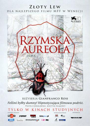 Przód ulotki filmu 'Rzymska Aureola'