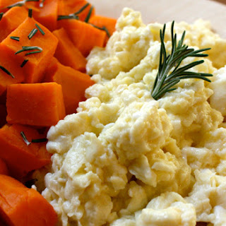 Scrambled Egg Whites with Steamed Sweet Potato.