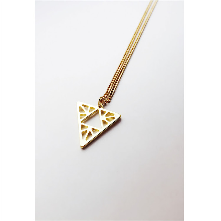 N027 - G. Obtriangular Pyramid Necklace by House of LaBelleD.