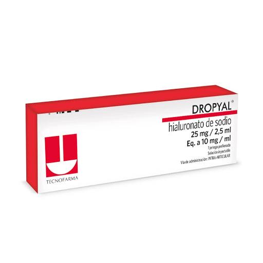 Hialuronato de Sodio Dropyal 25mg/2,5ml Solucion