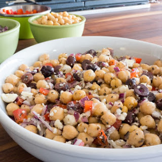 Mediterranean Chickpea Salad Feta Cheese Recipes