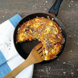 Sweet Potato, Red Onion and Feta Frittata.