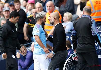 Guardiola en Agüero stonden even neus aan neus, Catalaanse coach legt misverstand uit
