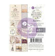 Prima Marketing Journaling Cards Pad 3X4 45/Pkg - Spring Farmhouse UTGÅENDE