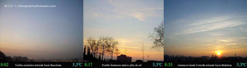 Photo: Amanecer del día 18/01/11