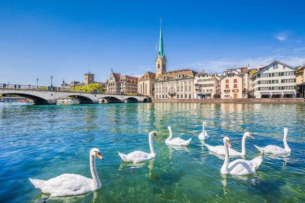 Lake Zurich; Zurich, St.Gallen & Schwyz