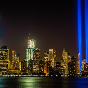 Tribute In Light - 911 Memorial by Scott Roth - City,  Street & Park  Skylines