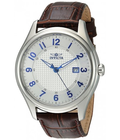 Ceasuri Barbati Invicta Watches Invicta Men's 'Vintage' Swiss Quartz Stainless Steel and Leather Casual Watch ColorBrown (Model 23015) SilverBrown