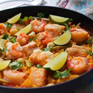 Skillet Seafood Paella.