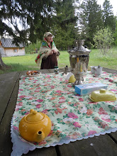 Photo: Nadyezhda at our field station tea ceremony