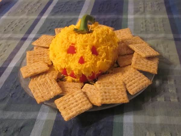 This Harvest Cheese Ball Is Make With Cream Cheese & Cheddar Cheese.